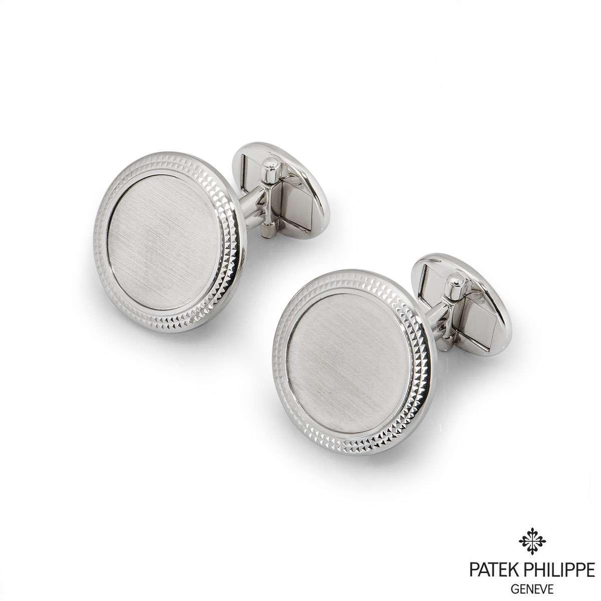 Patek Philippe White Gold Calatrava Cufflinks